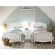 Legacy Classic Kids Harmony 4 Piece Chelsea Sleigh Bedroom Set in Antique Linen White