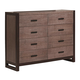 Legacy Classic Helix 8 Drawer Bureau in Charcoal and Stone 4660-1500