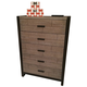Legacy Classic Helix 5 Drawer Chest in Charcoal and Stone 4660-2200