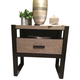 Legacy Classic Helix Nightstand in Charcoal and Stone 4660-3101