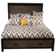 Legacy Classic Helix Queen Panel Bed with Storage in Charcoal and Stone 4660-4105UPQ