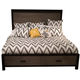 Legacy Classic Helix California King Panel Bed with Storage in Charcoal and Stone 4660-4106UPCK