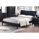 J&M Expresso Queen Platform Bed in Java 17518-Q