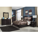Zanbury Contemporary Panel Bedroom Set in Merlot