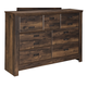 Quinden Rustic Dresser in Dark Brown B246-31