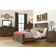 Quinden Rustic Panel Bedroom Set in Dark Brown
