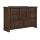 Ladiville Vintage Door Dresser in Rustic Brown B567-21