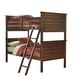 Ladiville Vintage Twin/Twin Panel Bunk Bed in Rustic Brown