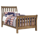 Birnalla Contemporary Twin Panel Bed in Light Brown
