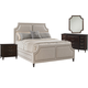 Lexington Furniture Kensington Place 4 Piece Chadwick Upholstered Bedroom Set in Huntington