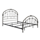 Ashley King Slatted Metal Bed in Bronze B280-182