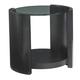 Lexington Furniture Carrera Firano Round End Table in Carbon Gray 911-950