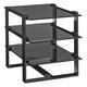 Lexington Furniture Carrera RHodium End Table in Carbon Gray 911-955C