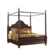 Tommy Bahama Kilimanjaro Candalaria Queen Poster Bed in Chestnut Brown 552-173C