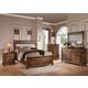 ACME Arielle Panel Bedroom Set in Rich Oak