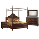 Tommy Bahama Kilimanjaro 4 Piece Candalaria Poster Bedroom Set in Chestnut Brown