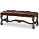 Legacy Classic La Bella Vita Upholstered Bench in Coffee House Brown 4200-4800