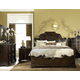 Legacy Classic La Bella Vita 4 Piece Sleigh Bedroom Set in Coffee House Brown