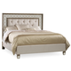 Hooker Furniture Sanctuary Cal King Mirrored Upholstered Bed in Avalon 5414-90860