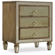 Hooker Furniture Sanctuary 3-Drawer Nightstand in Avalon 5414-90016