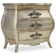 Hooker Furniture Sanctuary 3-Drawer Nightstand in Silver 5413-90016