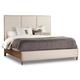 Hooker Furniture Studio 7H Aon King Upholstered Panel Bed in Walnut 5398-90266