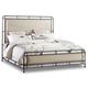 Hooker Furniture Studio 7H Slumbr King Metal Upholstered Bed in Walnut 5388-90266