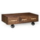 Zuo Modern Oaktown Low Table in Distressed Walnut 98190