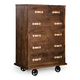 Zuo Modern Oaktown Tall Dresser in Distressed Walnut 98196
