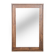 Zuo Modern Oaktown Mirror in Distressed Walnut 98197