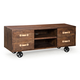 Zuo Modern Oaktown Low Console  Distressed Walnut 98198