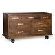 Zuo Modern Oaktown Wide Dresser  Distressed Walnut 98195
