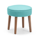 Zuo Modern Pure Britton Stool in Aqua 13001