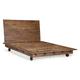 Zuo Modern Oaktown Queen Platform Bed in Distressed Walnut 98192