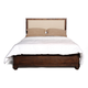 Zuo Modern The City Queen Panel Bed in Dark Brown 98205