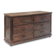 Zuo Modern The City 6 Drawer Dresser in Dark Brown 98208