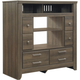 Juararo Bedroom Media Chest with Fireplace Option in Dark Brown B251-49