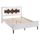 Zuo Modern Seattle King Panel Bed in Walnut and White 800310