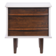 Zuo Modern Seattle Nightstand in Walnut and White 800322