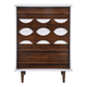 Zuo Modern Seattle High Chest in Walnut and White 800323