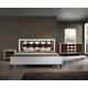 Zuo Modern Seattle 4 Piece Panel Bedroom Set in Walnut and White