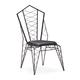 Zuo Modern Pure Heavy Metal Chair in Rustic Black 100342