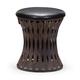 Zuo Modern Pure Thrash Stool in Rustic Black 155056