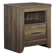 Juararo One Drawer Night Stand in Dark Brown B251-91
