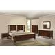 Zuo Modern Portland 4 Piece Panel Bedroom Set in Walnut