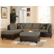 Acme Lisbon Pebble Easy Rider/Espresso Bycast Sectional Set w/ottoman