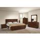 Zuo Modern San Diego 4 Piece Panel Bedroom Set in Walnut
