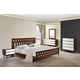 Zuo Modern LA 4 Piece Panel Bedroom Set in Walnut and White