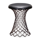 Zuo Modern Pure Spindle Stool in Rustic Black 155058