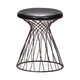 Zuo Modern Pure Spike Stool in Rustic Black 155059